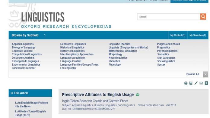 Oxford Research Encyclopedias